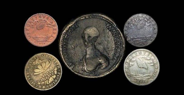 Зачем на монетах 1656 года изображали инопланетян itemprop=