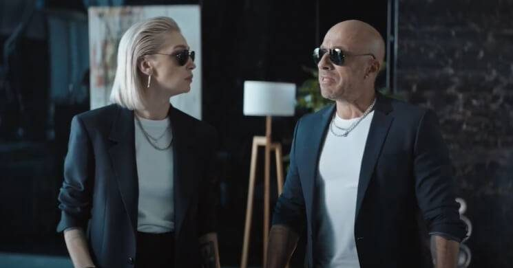 Рекламный ролик Ивлеевой и Нагиева фанаты расценили как начало звездного романа itemprop=