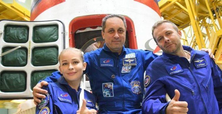 Юлия Пересильд — первая актриса, снимающаяся в космосе itemprop=